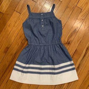 CARTER'S Denim & White Bottom Sleeveless Dress